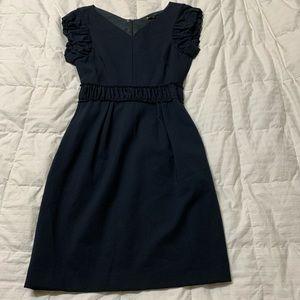 Maje size 1 dark navy blue cap sleeve dress